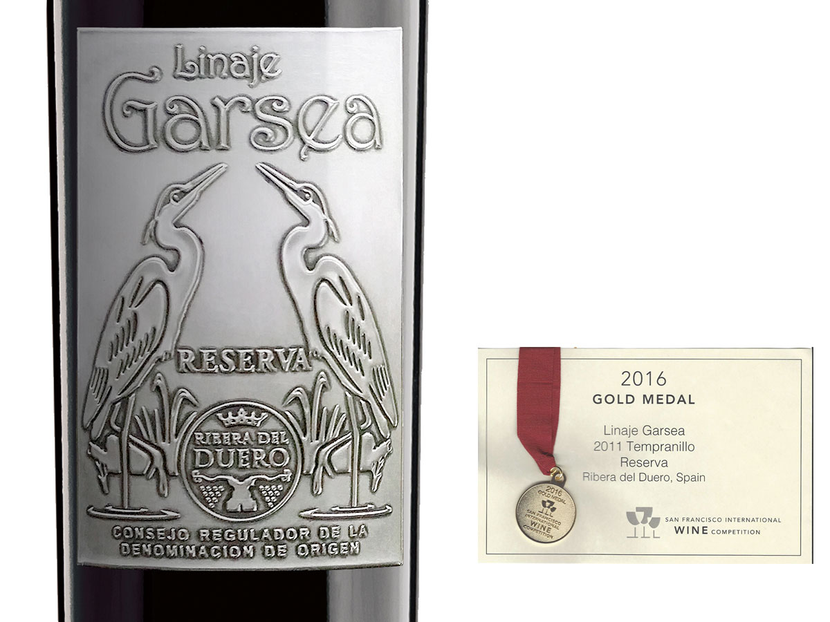 Linaje Garsea reserva 2011 Medalla de oro San Francisco International